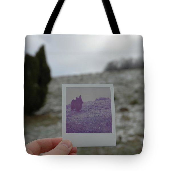 Hand Holding Polaroid - Concept Image For Memory Or Time Or Past Tote Bag by Matthias Hauser