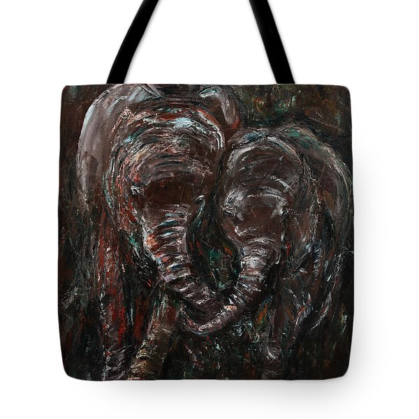 Hand in Hand Tote Bag by Xueling Zou