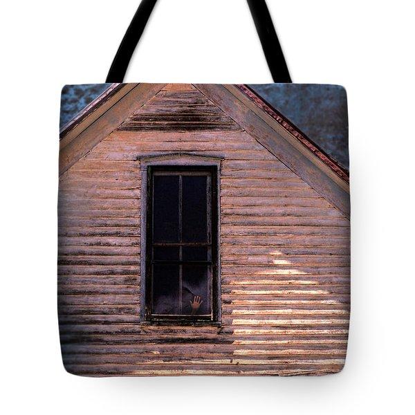 Hand In Window Tote Bag by Jill Battaglia