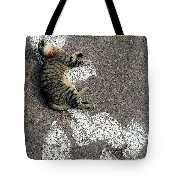 Handicat Parking Tote Bag by Barbie Corbett-Newmin