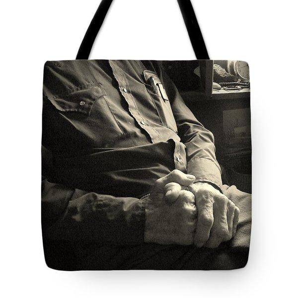Hands Of Time Tote Bag by Joe Jake Pratt