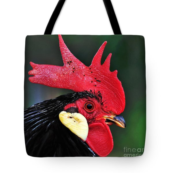 Handsome Rooster Tote Bag by Kaye Menner