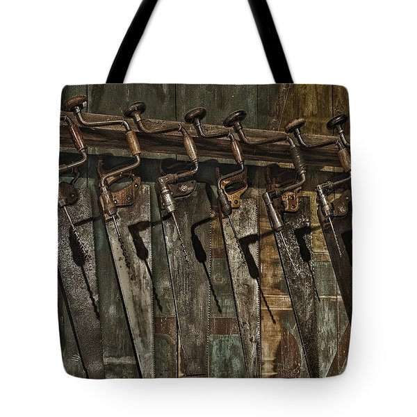 Handy Man Tools Tote Bag by Susan Candelario