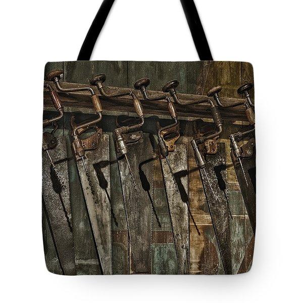 Handy Man Tools Tote Bag by Susan Candelario