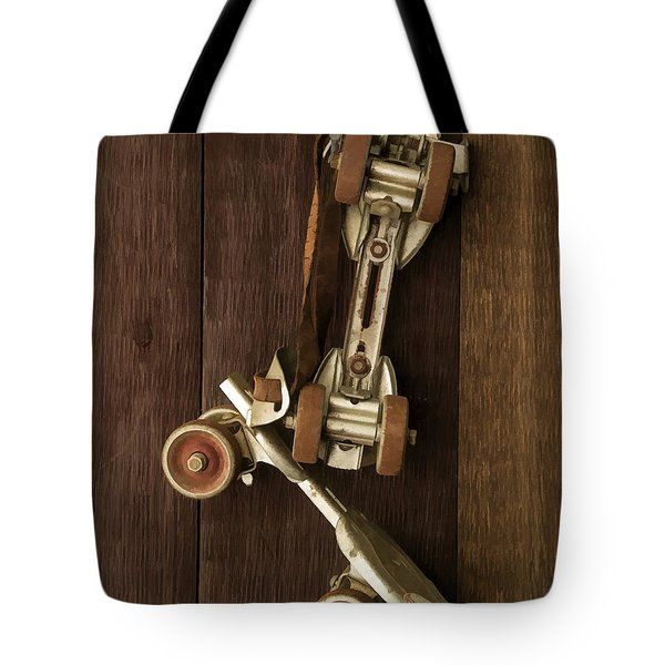 Hang Up Your Skates - Oil Tote Bag by Edward Fielding