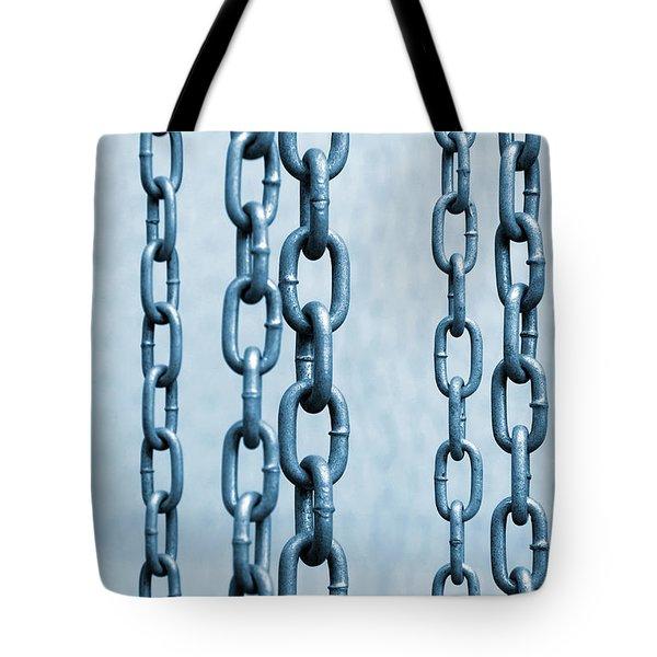 Hanged Chains Tote Bag by Carlos Caetano