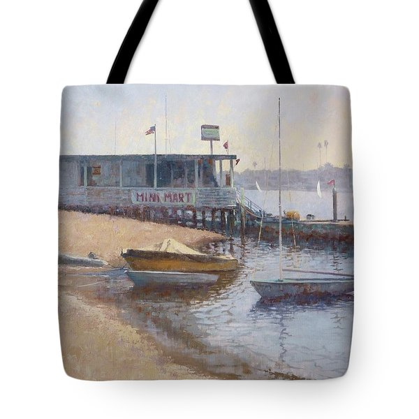 Hangin' At The Mini Mart Tote Bag by Sharon Weaver