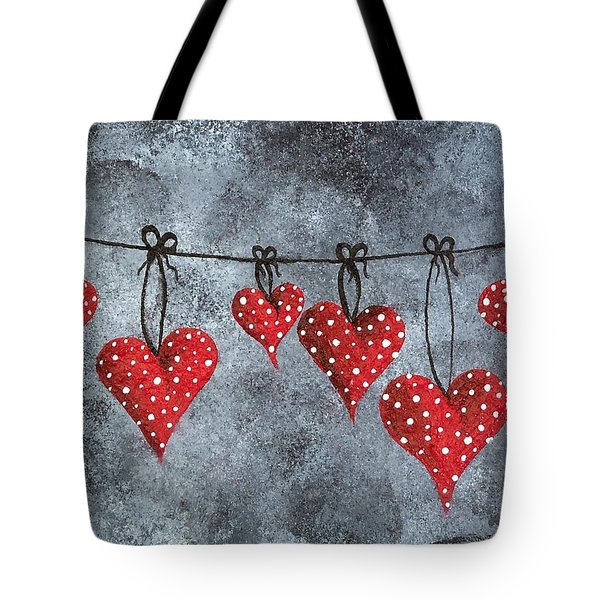 Hanging On To Love Tote Bag by Oddball Art Co by Lizzy Love