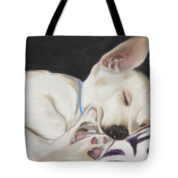 Hanks Sleeping Tote Bag by Jeanne Fischer