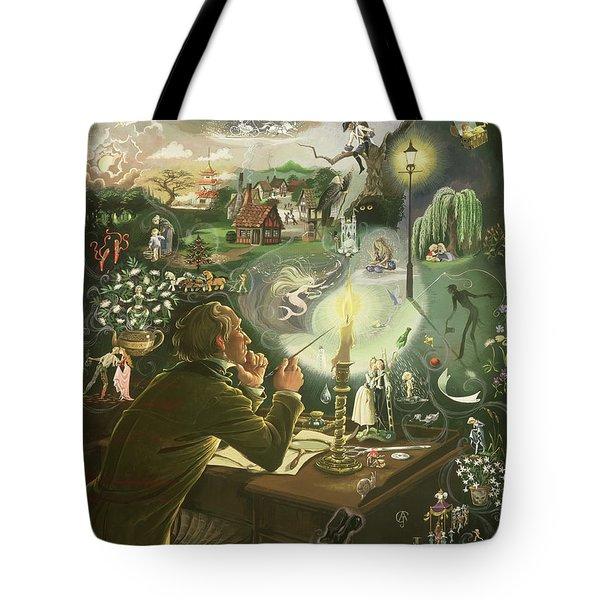 Hans Christian Andersen Tote Bag by Anne Grahame Johnstone