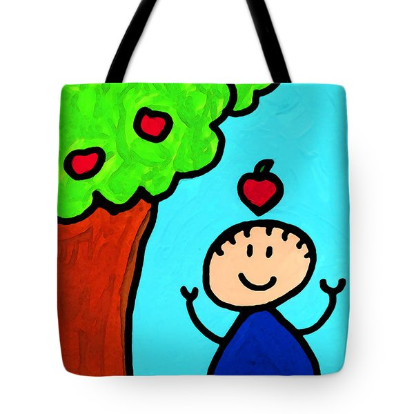 Happi Arti 6 - Sir Isaac Newton Art Tote Bag by Sharon Cummings