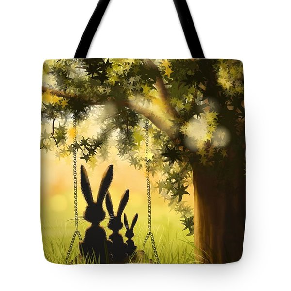 Happily Together Tote Bag by Veronica Minozzi