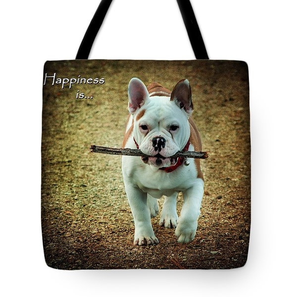 Happiness Is Tote Bag by Jordan Blackstone