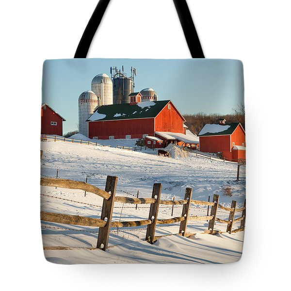 Happy Acres Farm Tote Bag by Bill  Wakeley