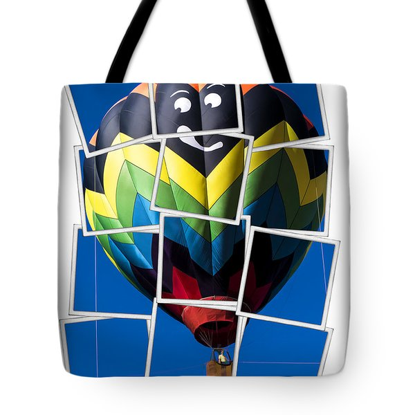 Happy Balloon Ride Tote Bag by Edward Fielding