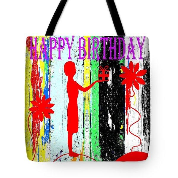Happy Birthday 7 Tote Bag by Patrick J Murphy