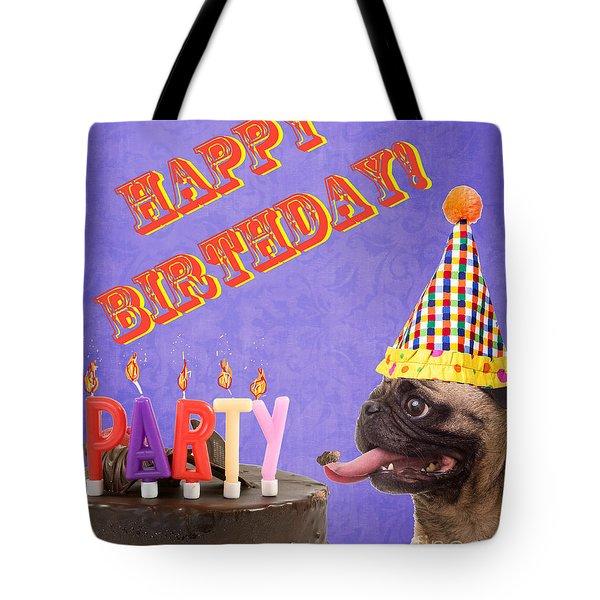 Happy Birthday Card Tote Bag by Edward Fielding