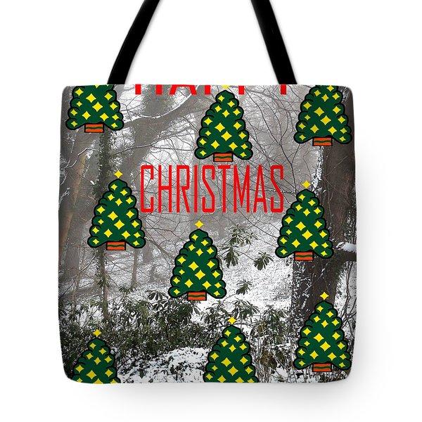 HAPPY CHRISTMAS 22 Tote Bag by Patrick J Murphy
