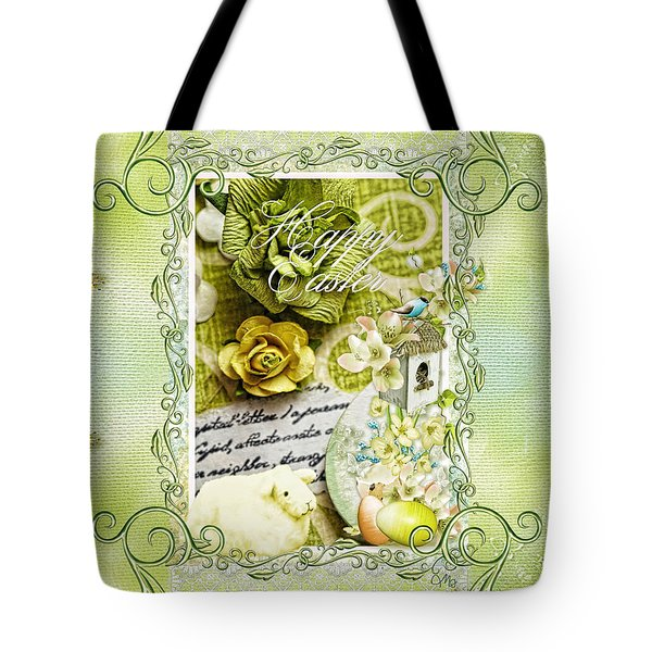 Happy Easter 3 Tote Bag by Mo T
