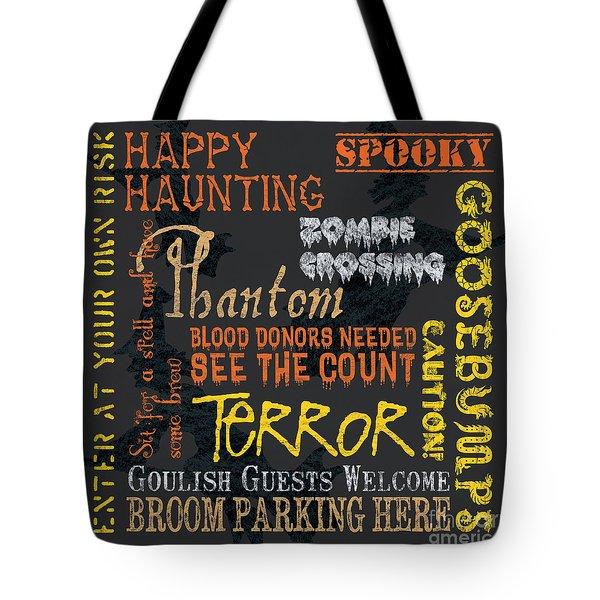 Happy Haunting Tote Bag by Debbie DeWitt