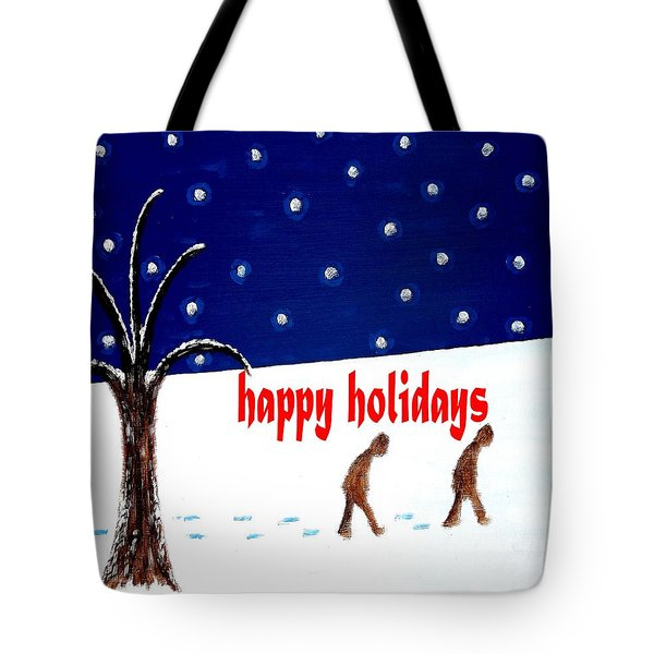 HAPPY HOLIDAYS 5 Tote Bag by Patrick J Murphy