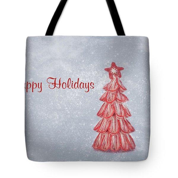 Happy Holidays Tote Bag by Kim Hojnacki