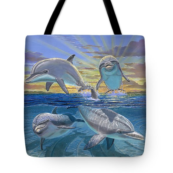 Happy Hour Re003 Tote Bag by Carey Chen