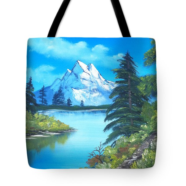 Happy Little Trees Tote Bag by Faye Giblin