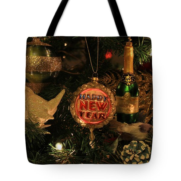 Happy New Year  Tote Bag by Donna Kennedy