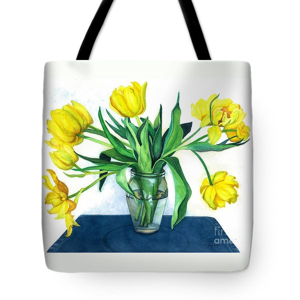 Happy Spring Tote Bag by Barbara Jewell