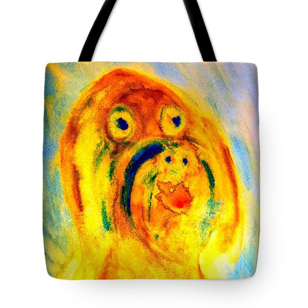 happy troll Tote Bag by Hilde Widerberg