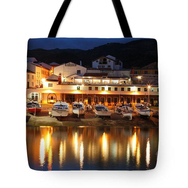 Harbour At Twilight Tote Bag by Gaspar Avila