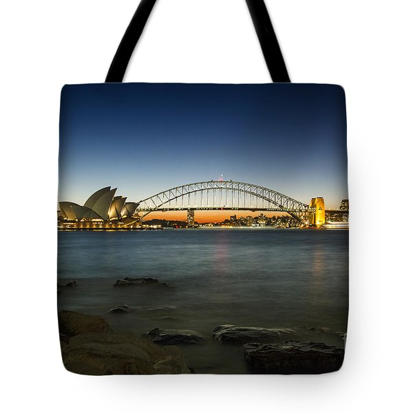 Harbour Night Tote Bag by Andrew Paranavitana