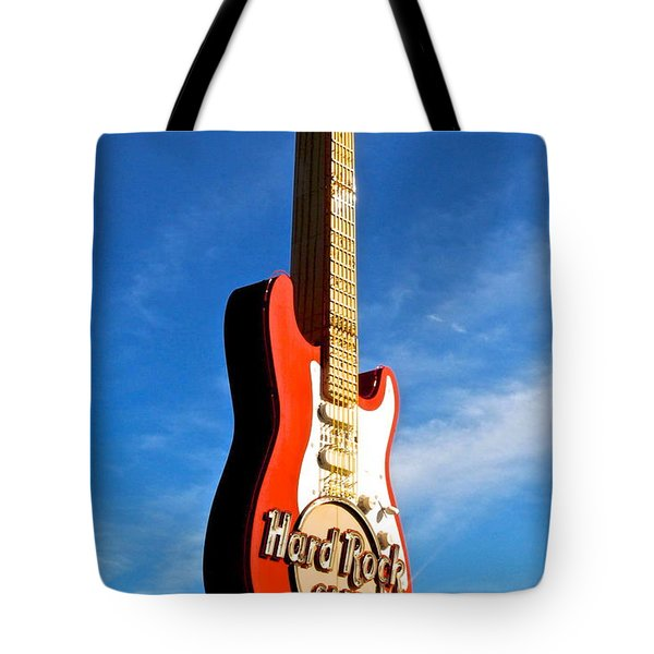 Hard Rock Cafe Cleveland Tote Bag by Frozen in Time Fine Art Photography