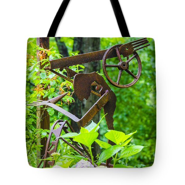 Hard Working Man Tote Bag by Carolyn Marshall