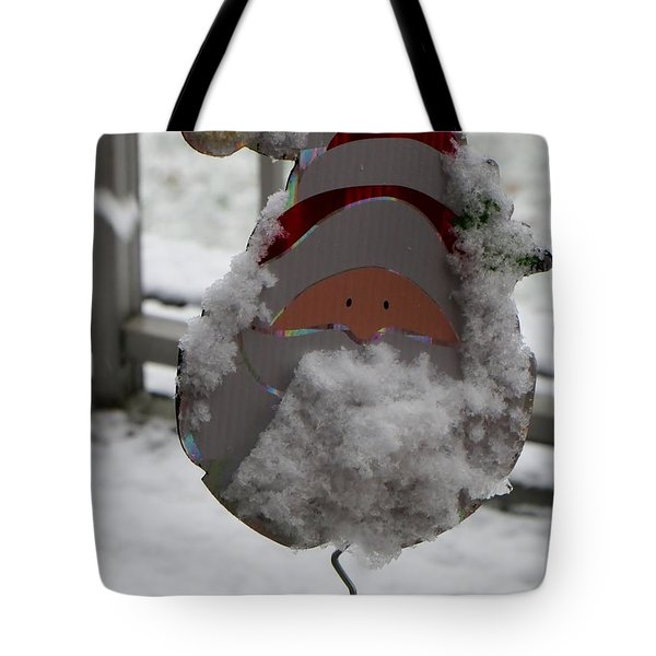 Hardworking Santa Tote Bag by Sonali Gangane