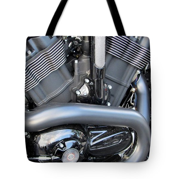 Harley Close-up Engine Close-Up 1 Tote Bag by Anita Burgermeister