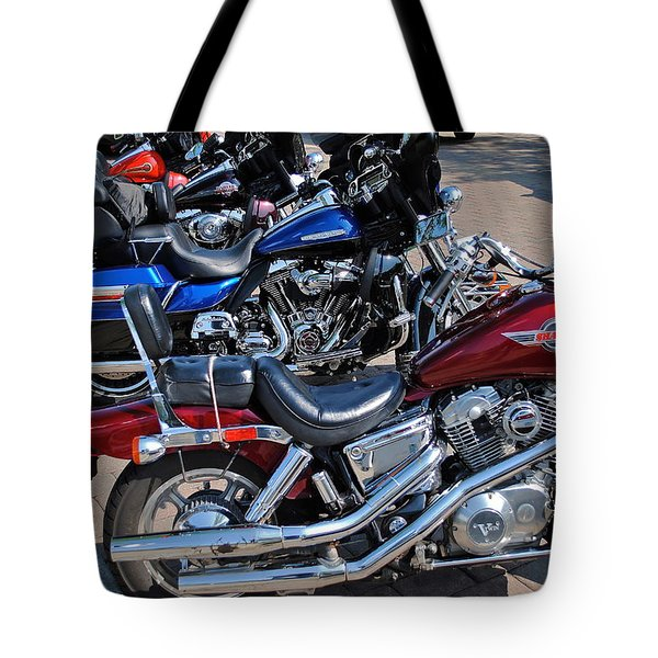 Harley Davidson Tote Bag by Frozen in Time Fine Art Photography