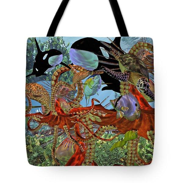 Harmony Under The Sea Tote Bag by Betsy C Knapp