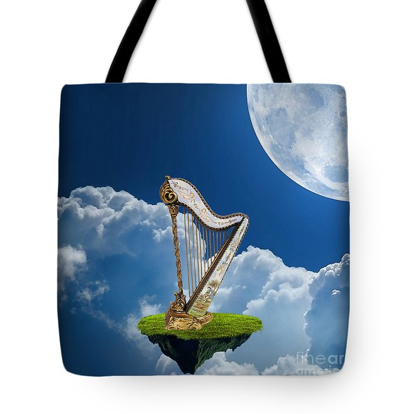 Harp Tote Bag by Marvin Blaine