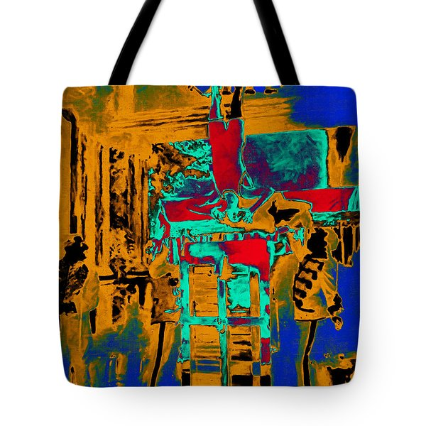 Harry Houdini And The Chinese Water Torture In Abstract Tote Bag by Wingsdomain Art and Photography