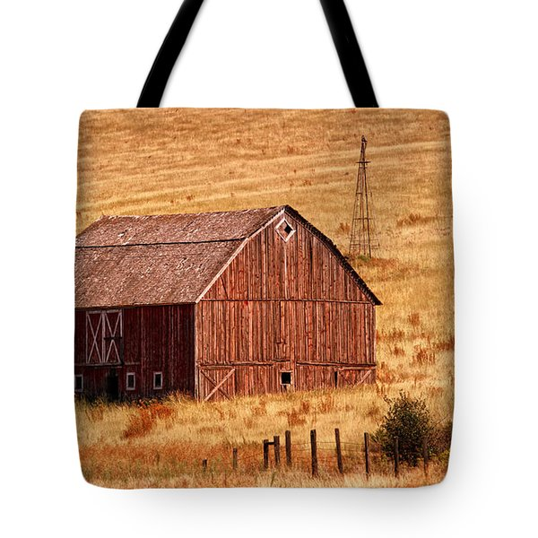 Harvest Barn Tote Bag by Mary Jo Allen