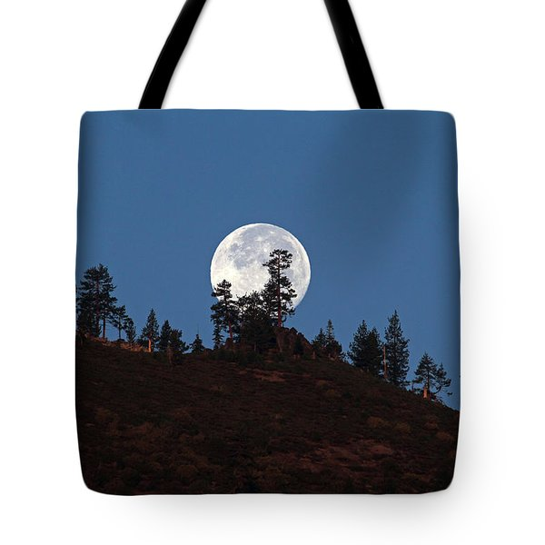 Harvest Moonset Tote Bag by Donna Kennedy