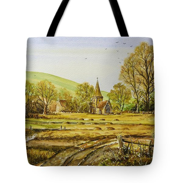 Harvesting Fields Tote Bag by Andrew Read