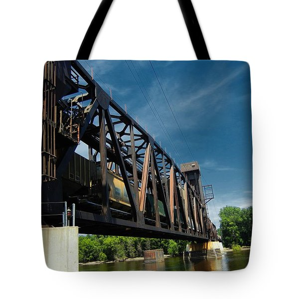 Hastings Train Bridge 2 Tote Bag by Todd and candice Dailey