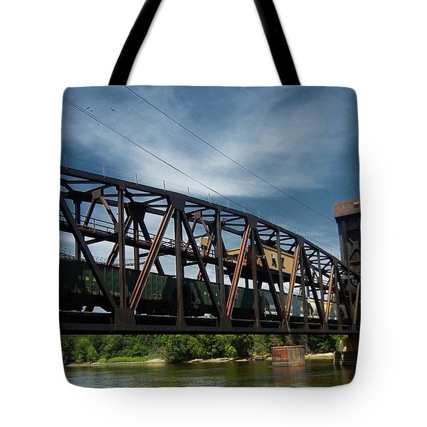 Hastings Train Bridge 3 Tote Bag by Todd and candice Dailey