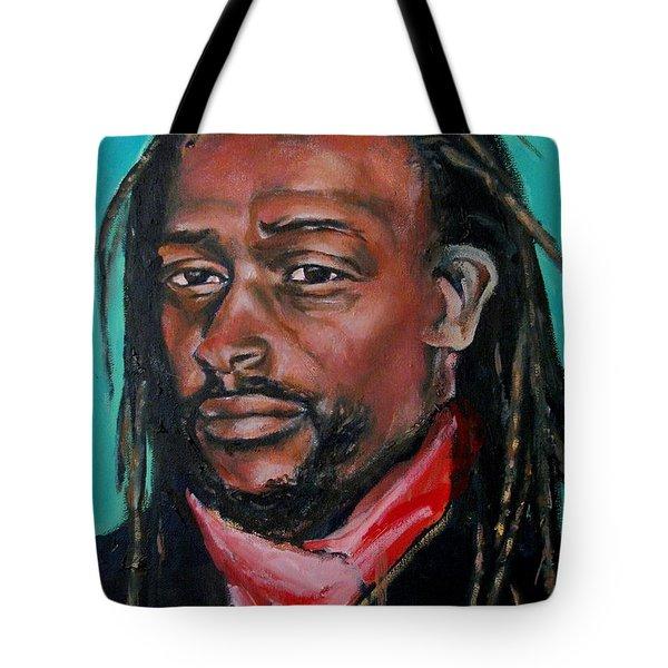 Hat Man - Portrait Tote Bag by Grace Liberator