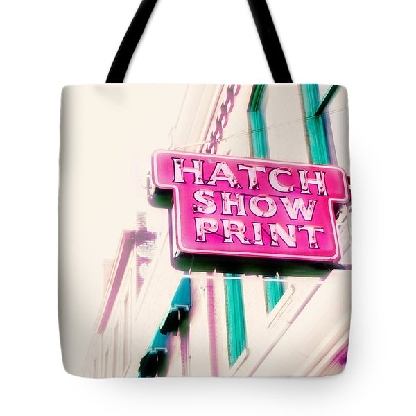 Hatch Show Print Tote Bag by Amy Tyler