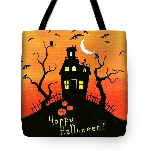 Haunted House Part One Tote Bag by Linda Mears