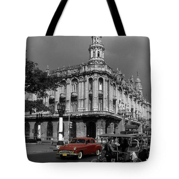 Havana Red Tote Bag by James Brunker